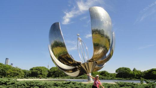 Flor metalica em Buenos Aires na Argentina