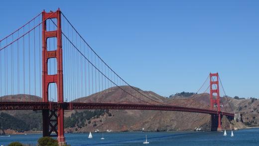 Ponte Golden Gate Bridge em São Francisco, San Francisco na Califórnia