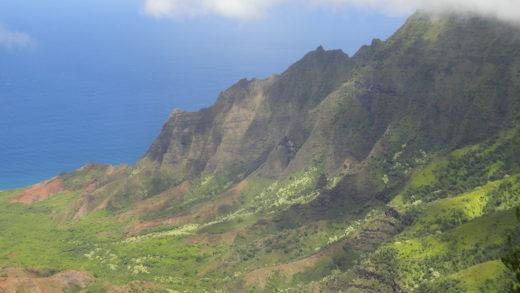 Napali na ilha de Kauai no Hawaii melhor vista da ilha de Kauai