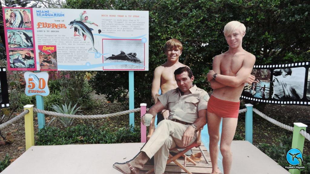 Flipper Dolphin Miami Seaquarium na Florida