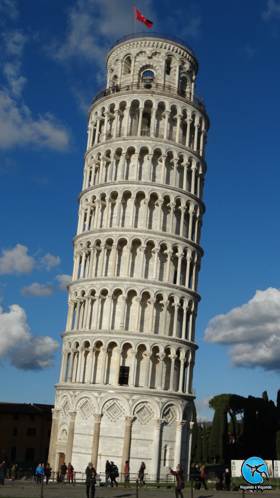 Torre de Pisa ou Leaning Tower of Pisa na Itália