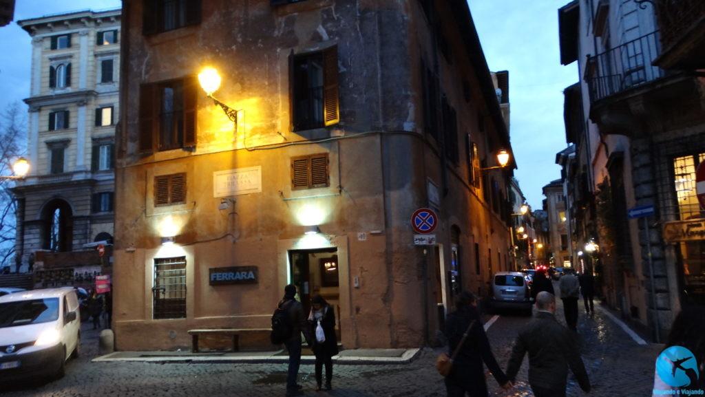 Trastevere em Roma ótima opção gastronômica