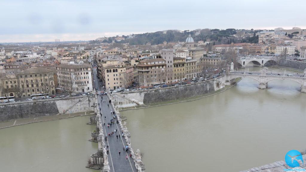 Vista aérea da cidade de Roma na Itália