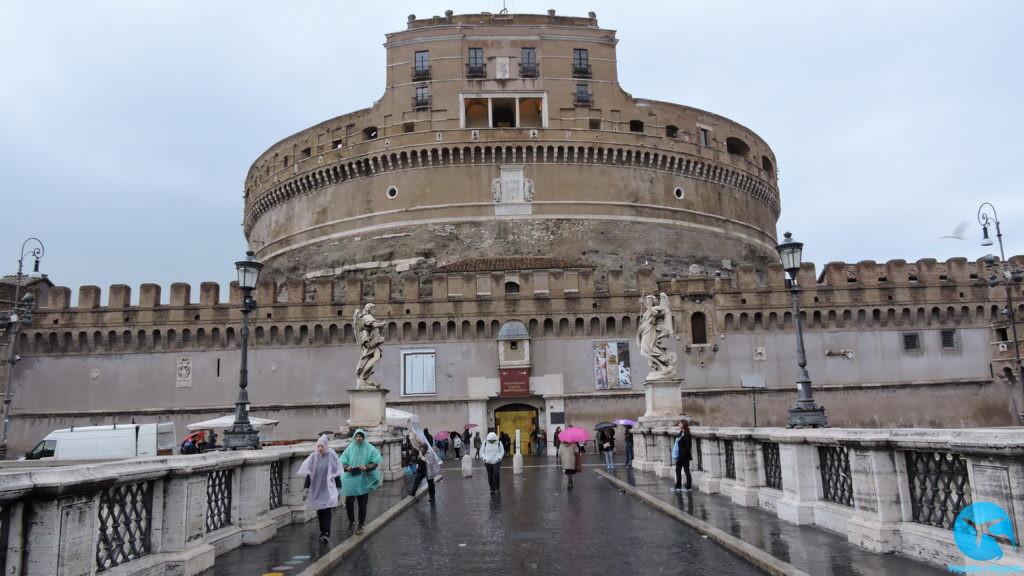 Castelo de Sant'Angelo pertinho do Vaticano em Roma