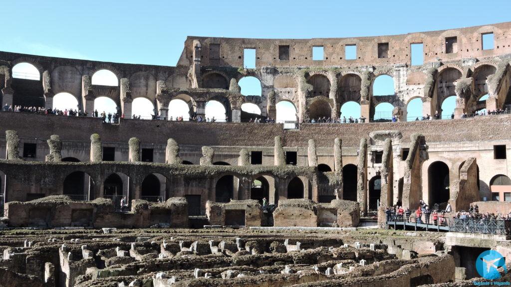Como é o Coliseu por dentro - o interior do Coliseum em Roma