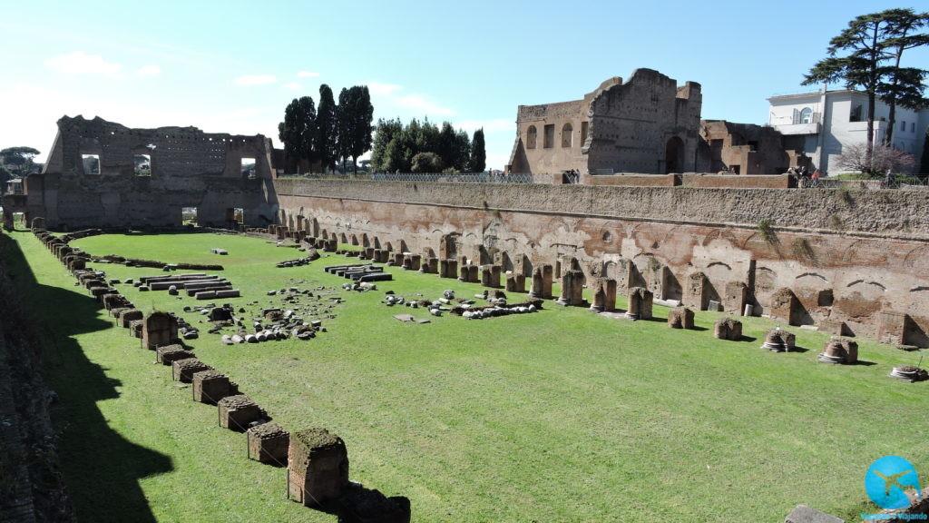Visitando o Palatino em Roma