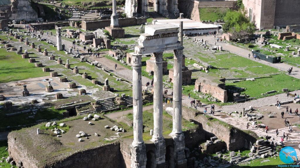 Fórum Romano vista aérea em Roma
