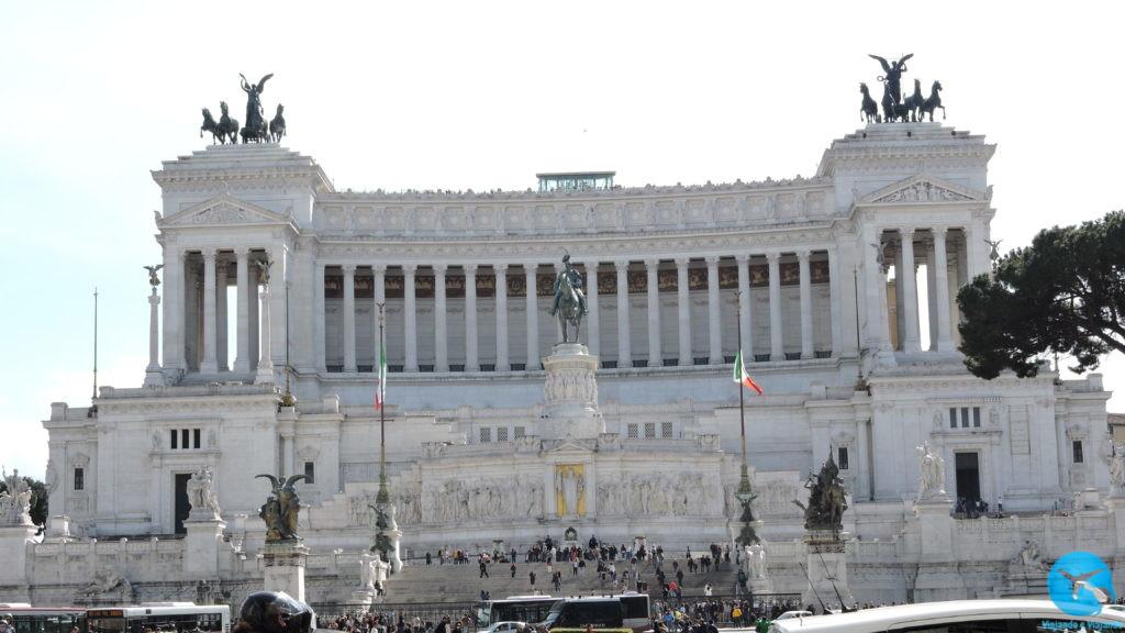 Piazza Venezia em Roma na Itália
