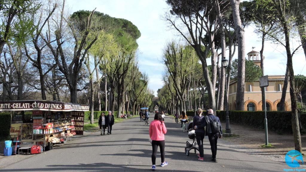Villa Borghese um bonito parque no centro de Roma
