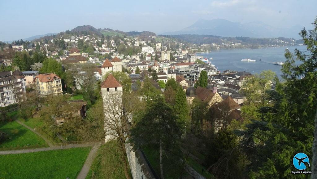 vista da Muralha de Lucerna