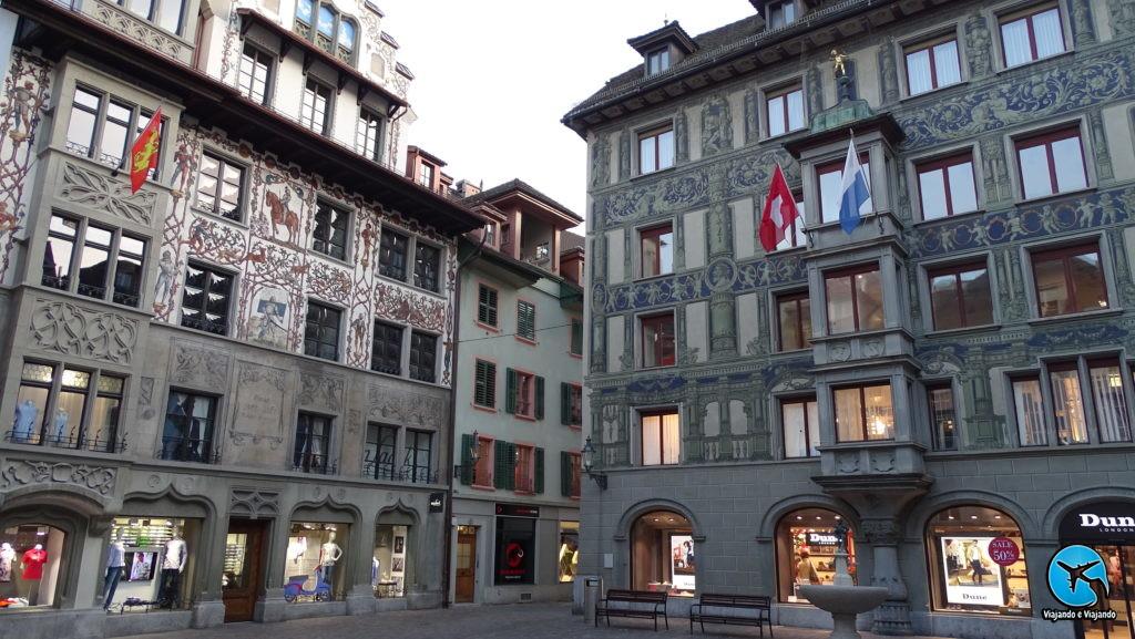 Passeio pelo centro de Lucerna na Suíça