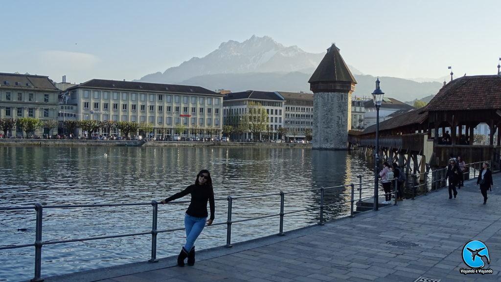 Passeio pelo centro de Lucerna na Suíça Luzern Switzerland