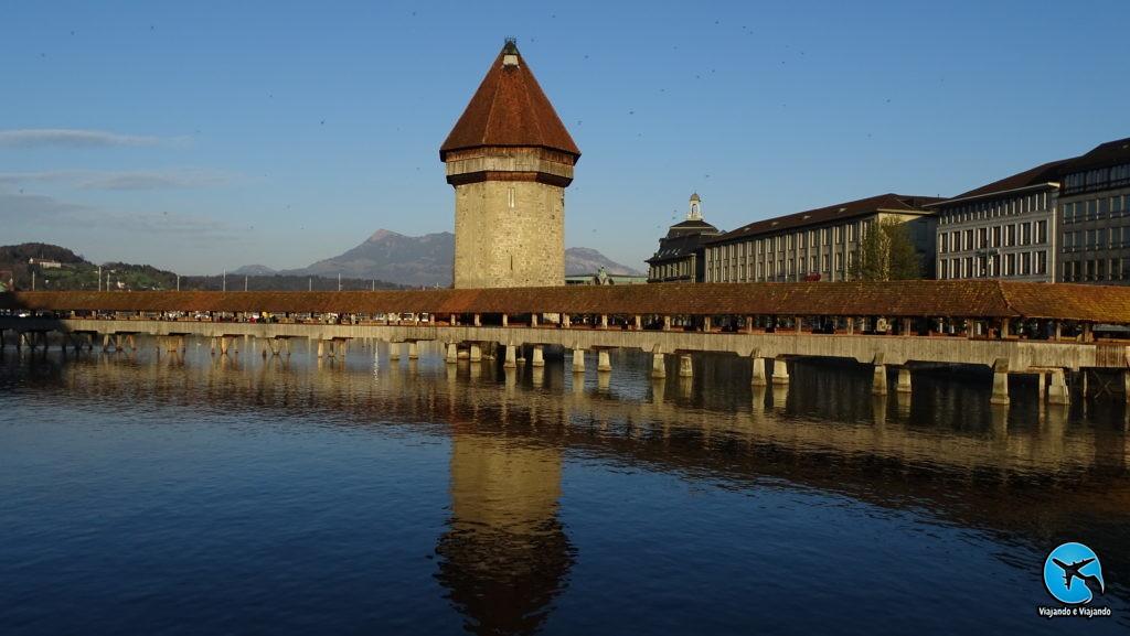 Ponte da Capela - Kapellbrücke em Lucerna, na Suíça