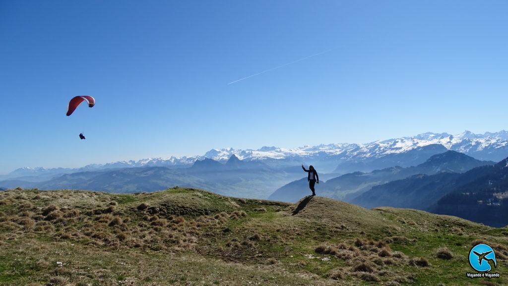 Alpes suíços no Monte Rigi em Lucerna