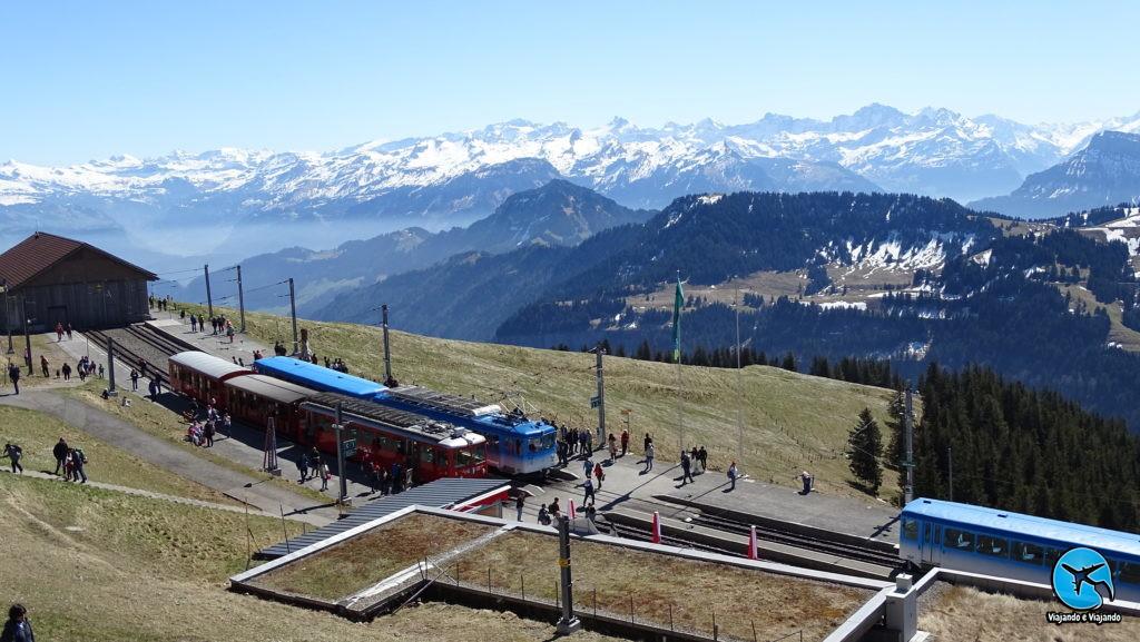 Estação Rigi Kulm no Monte Rigi em Lucerna na Suíça