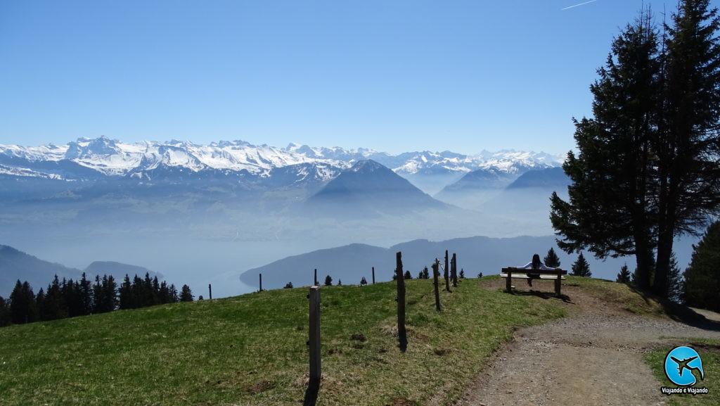 Trilha no Monte Rigi em Lucerna
