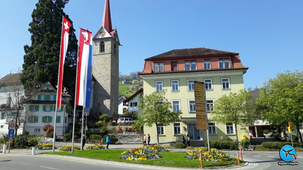 passeio de barco em Lucerna cidade de Weggis Monte Rigi
