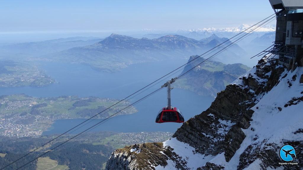 Dragon Ride no Mount Pilatus em Lucerna na Suíça Luzern Switzerland