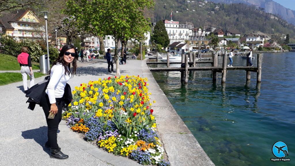 Orla de Weggis passeio de barco no Lago Lucerna em Luzern Lake