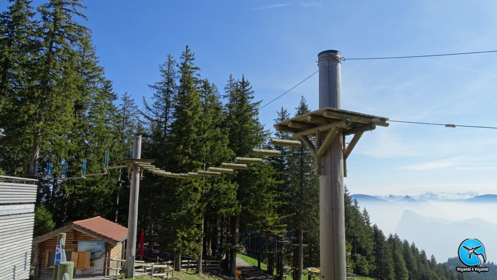 Arvorismo no Monte Pilatus em Lucerna na Suíça Luzern Switzerland