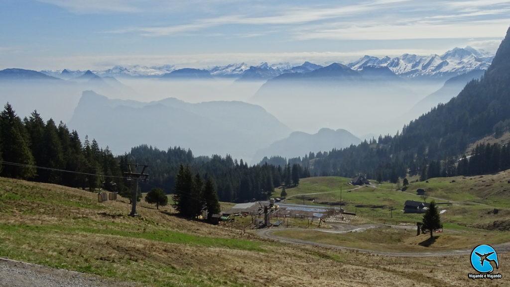 Mount Pilatus em Lucerna na Suíça Luzern Switzerland