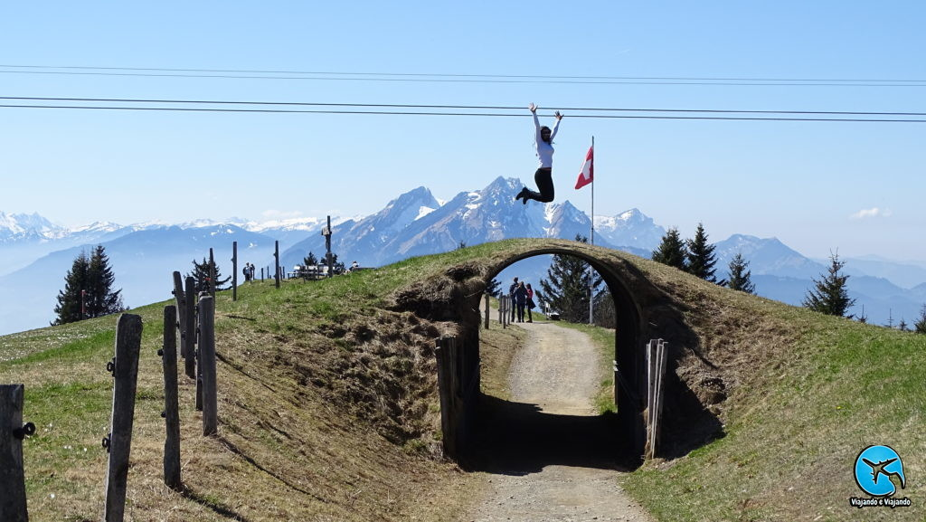 Trilha no Monte Rigi na Suíça
