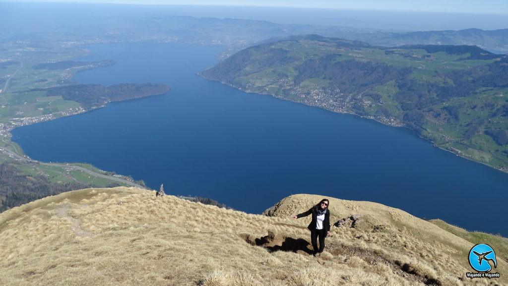 Passeio ao Monte Rigi vista do Lago Lucerna