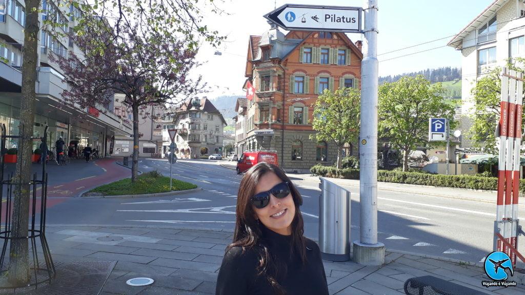 Kriens ponto de partida do teleférico para o Mount Pilatus