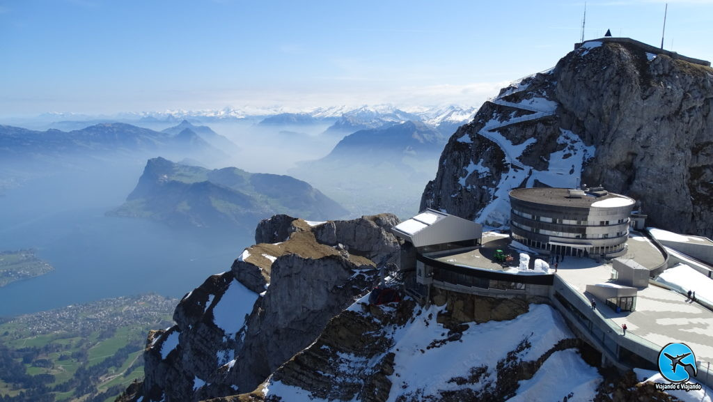 Linda vista do Monte Pilatus em Lucerna na Suíça Luzern Switzerland