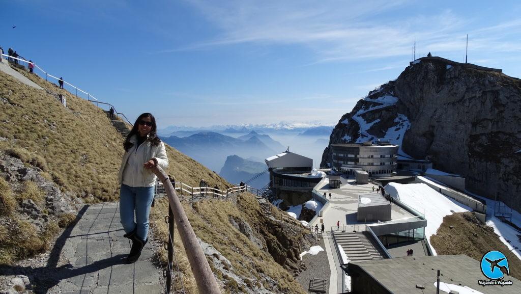Trail Hike trilha no Monte Pilatus em Lucerna na Suíça Luzern Switzerland