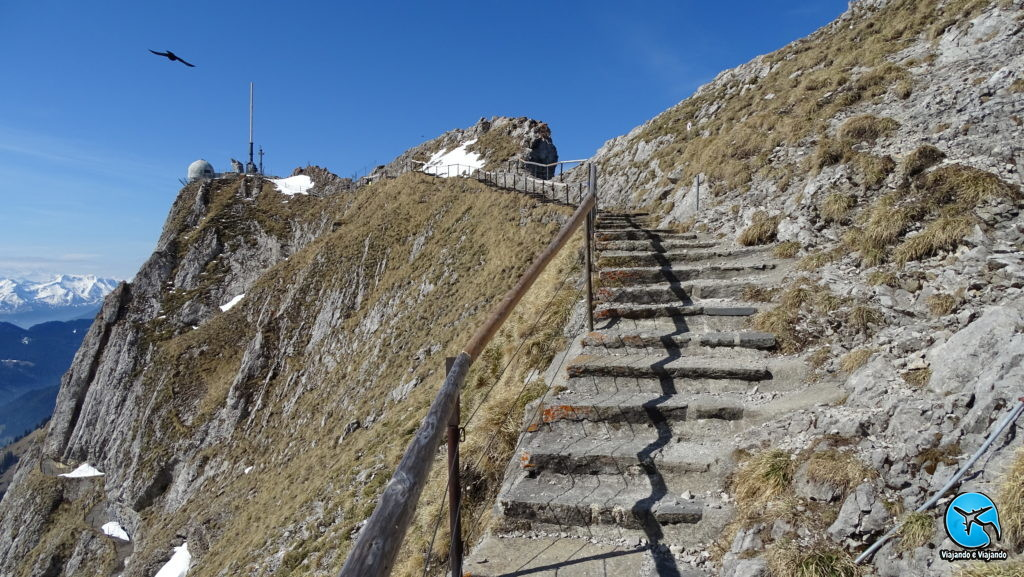 Trilha Hike Trail no Monte Pilatus em Lucerna na Suíça Luzern Switzerland