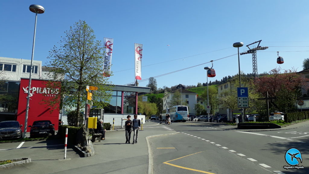 Estação Station do Monte Pilatus em Lucerna