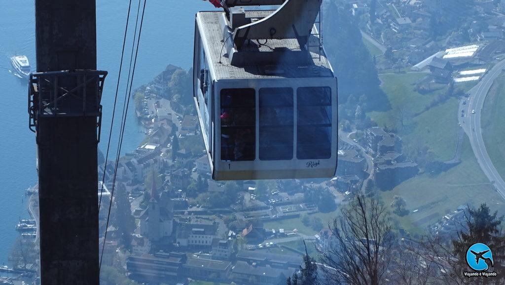 Teleférico de Rigi Kaltbad para Weggis na Suíça