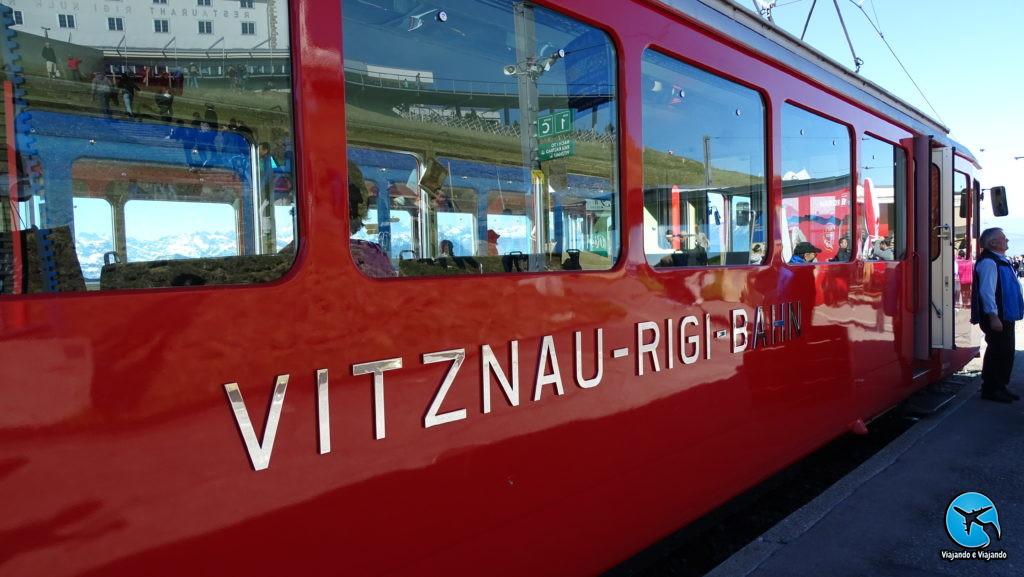 Train Vitznau Rigi Bahn em Lucerna