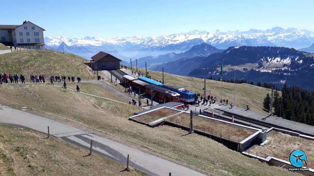 Estação de trem no Monte Rigi
