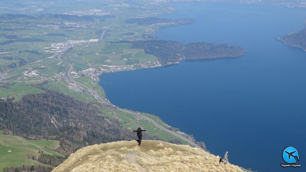 Monte Rigi linda vista do Lago Lucerna