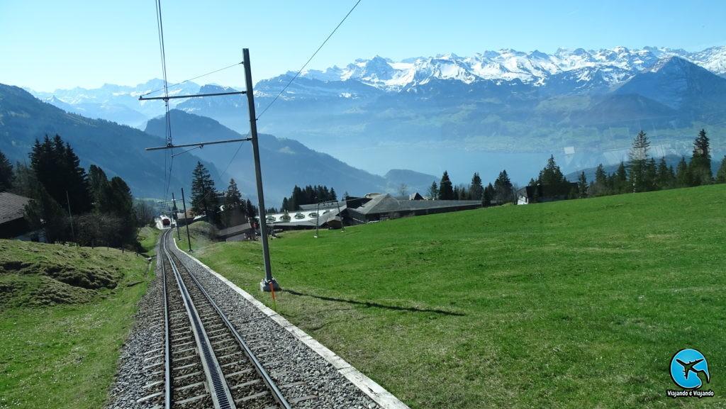 Paisagem view do trem Rigi Montain