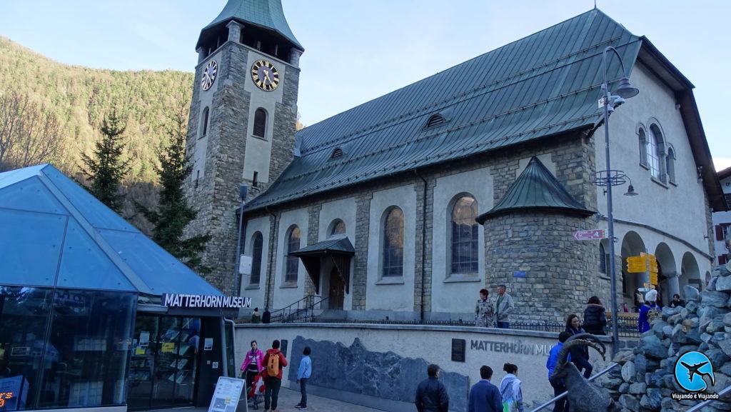 Igreja matriz de Zermatt Matterhorn Suíça