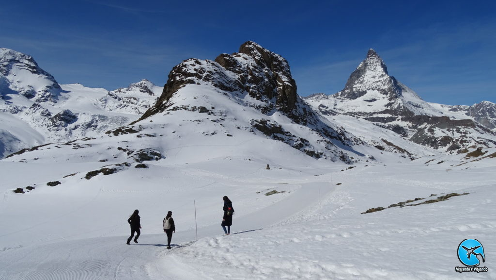 Trilha ski em Zermatt Matterhorn Suíça