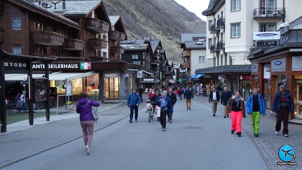 Centro de Zermatt na Suíça