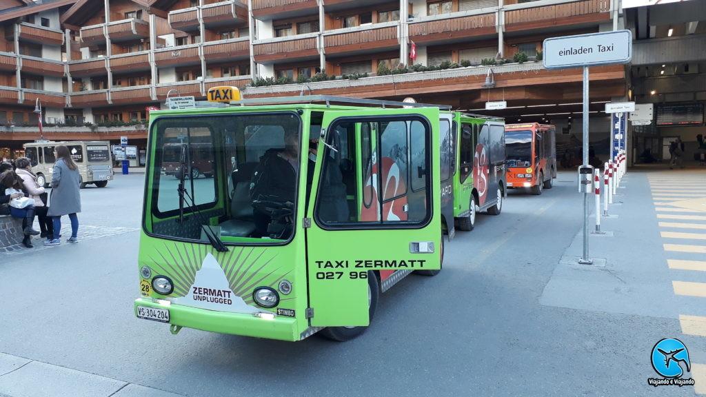 Taxi em Zermatt na Suíça