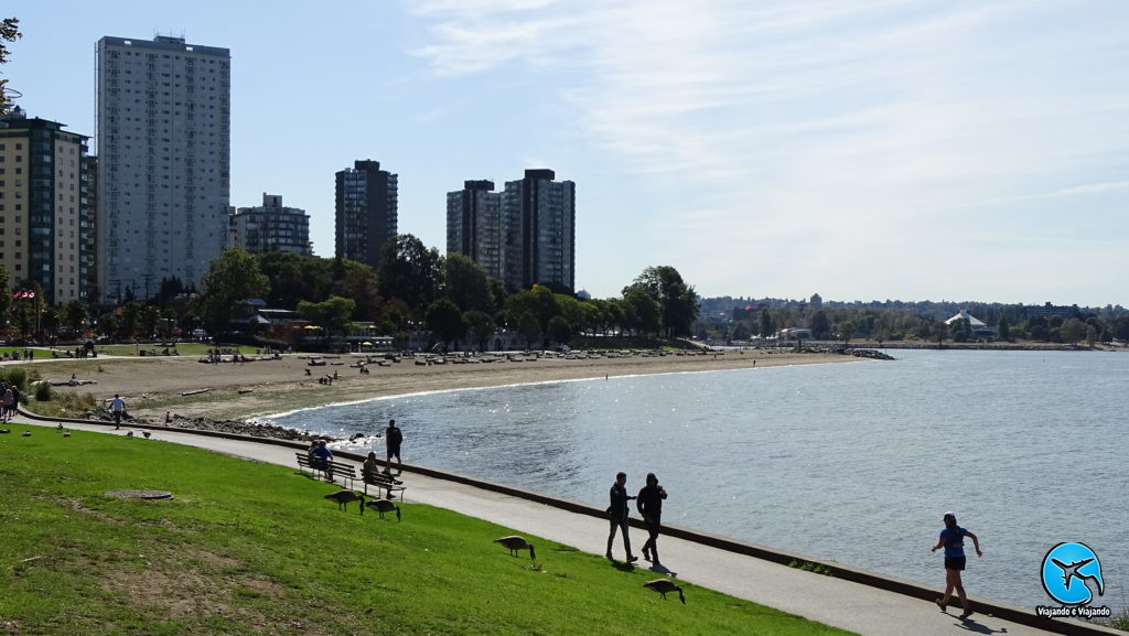 English Bay Stanley Park Vancouver City Canada