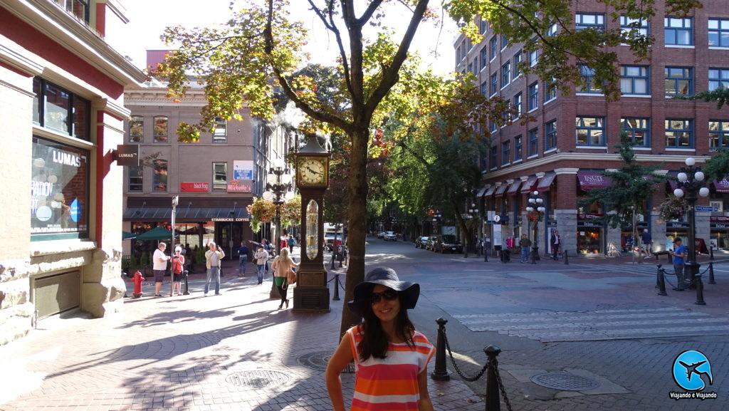 Gastown em Vancouver Steamclock