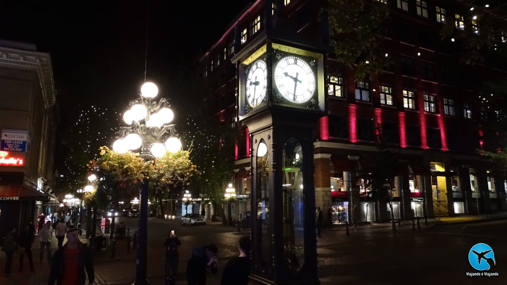 Gastown in Vancouver Steamclock night