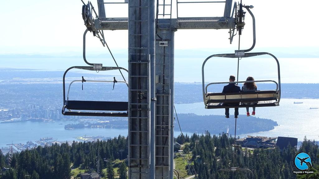Teleférico que leva ao topo da Grouse Montain