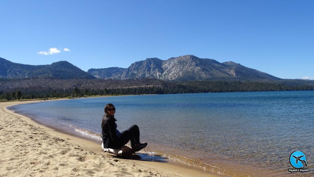 Praia em Lake Tahoe