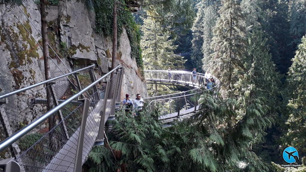 Cliffwalk Capilano Suspension Bridge Park in Vancouver