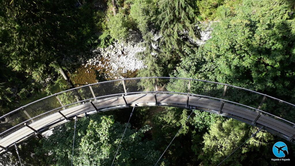 Cliffwalk in Capilano Suspension Bridge Park in Vancouver